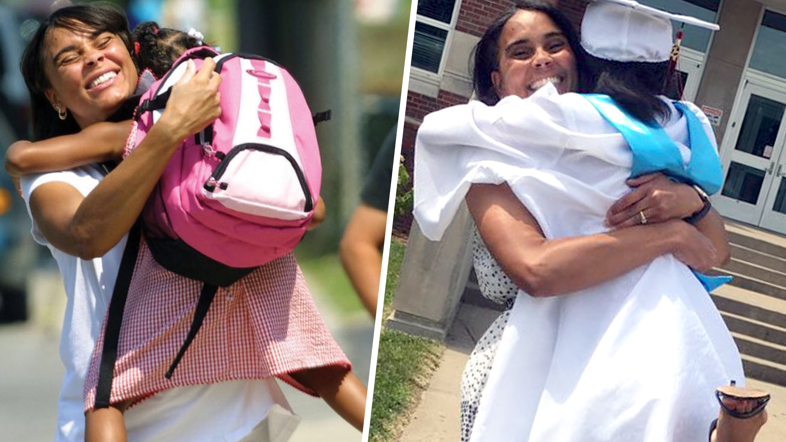 The story behind the viral graduation photo of an 18-year-old and her mother