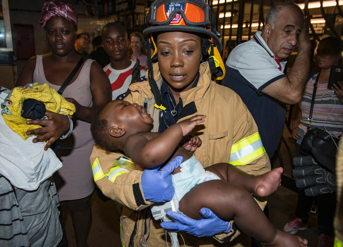 Heroic EMT saves mom, baby boy in New York train derailment