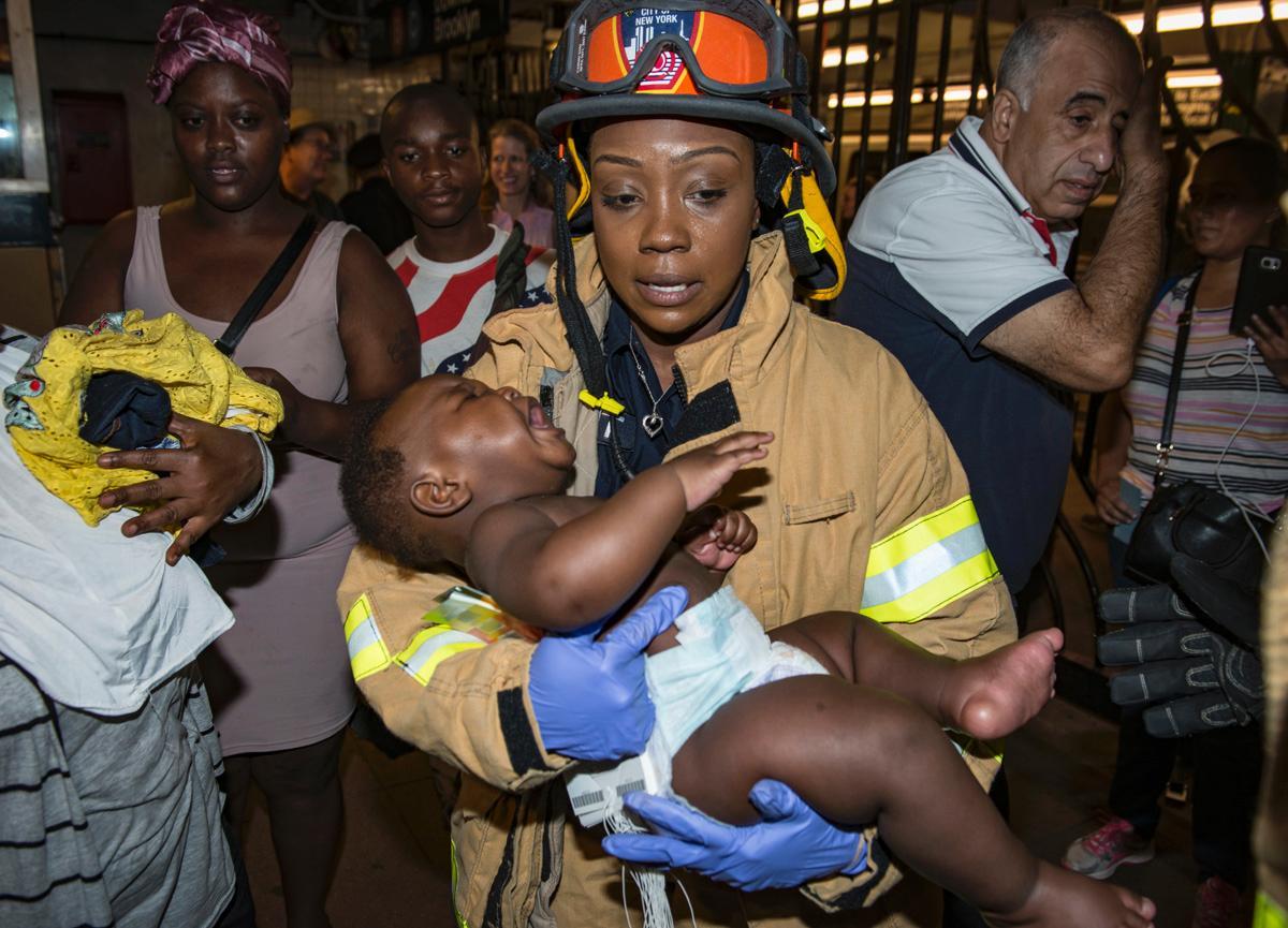 Heroic EMT saves mom, baby boy in New York train derailment