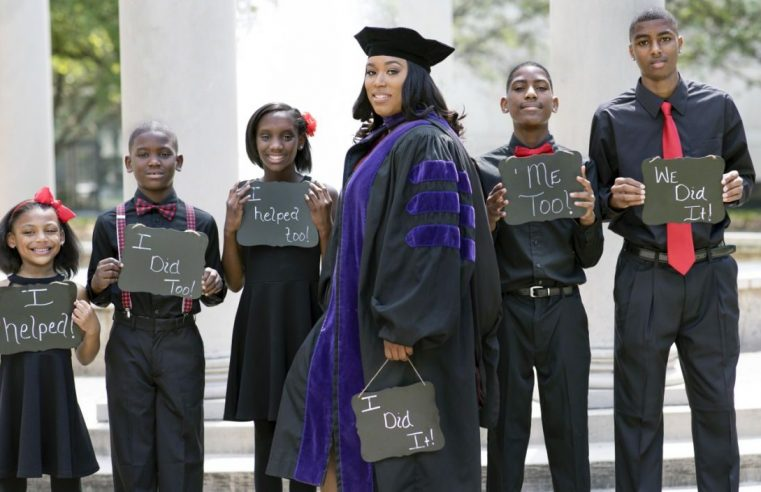 She balanced raising 5 children and law school. Now, it'll pay off