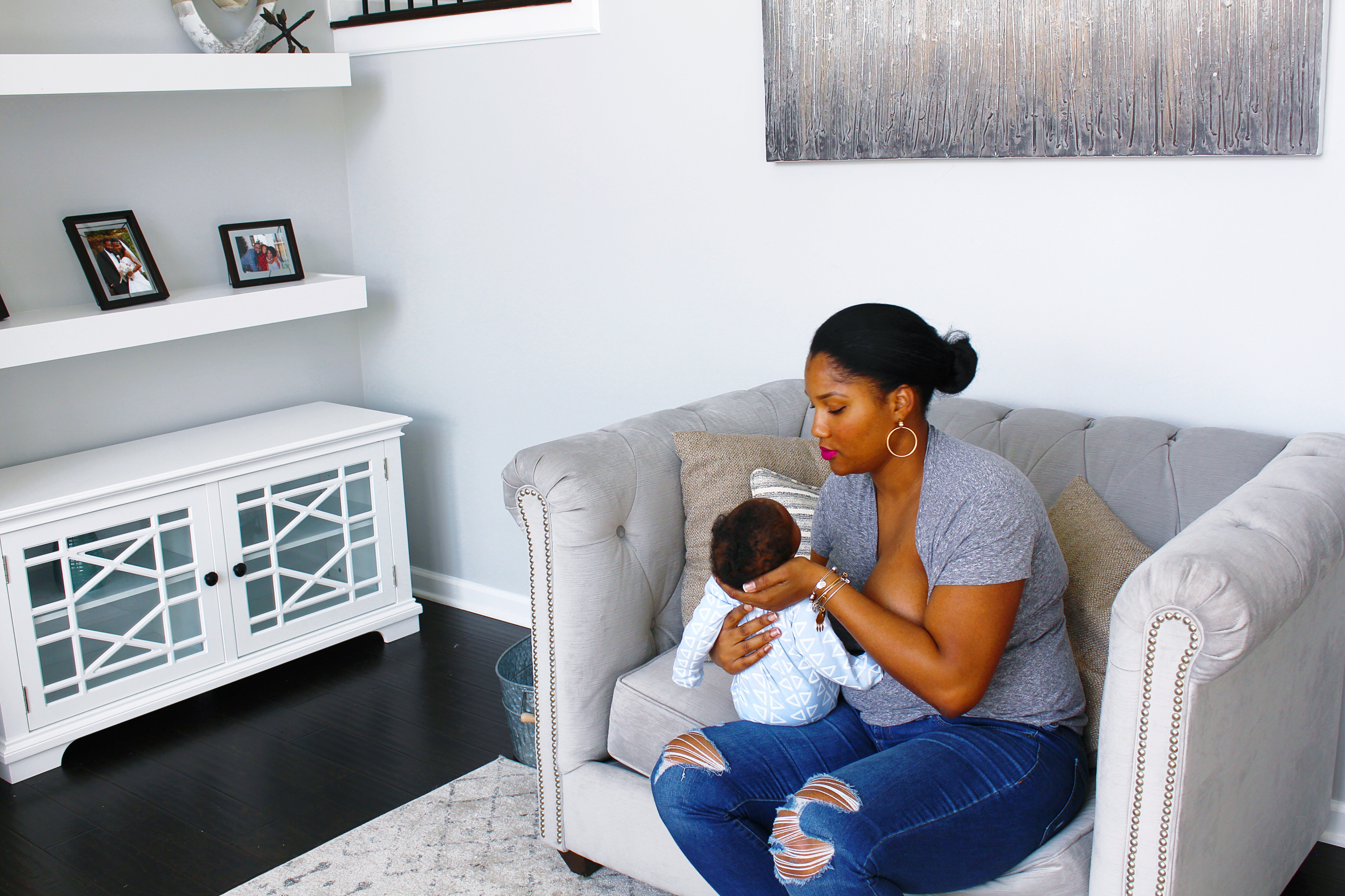 Breastfeeding mom hopes to impact conversation about motherhood and breast surgery