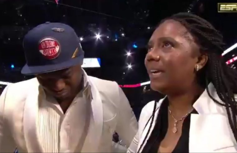Mother's sacrifices make No. 1 pick Zion Williamson choke up at NBA Draft