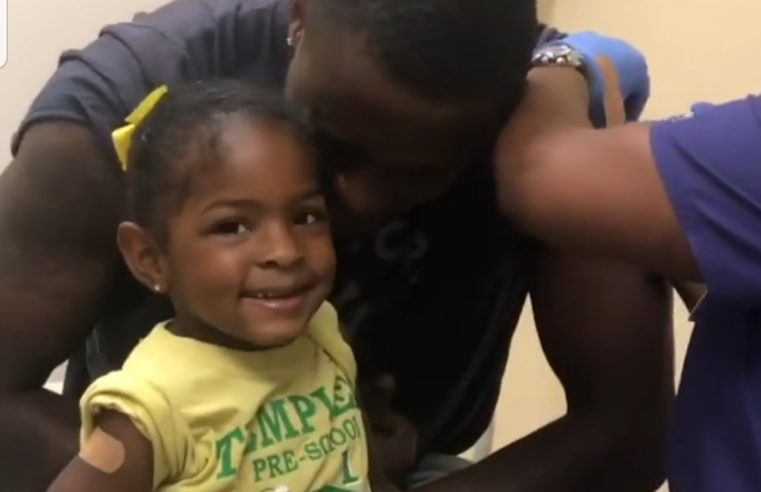 Black Dad Spotlight: Father gets fake shots to ease daughter's nerves
