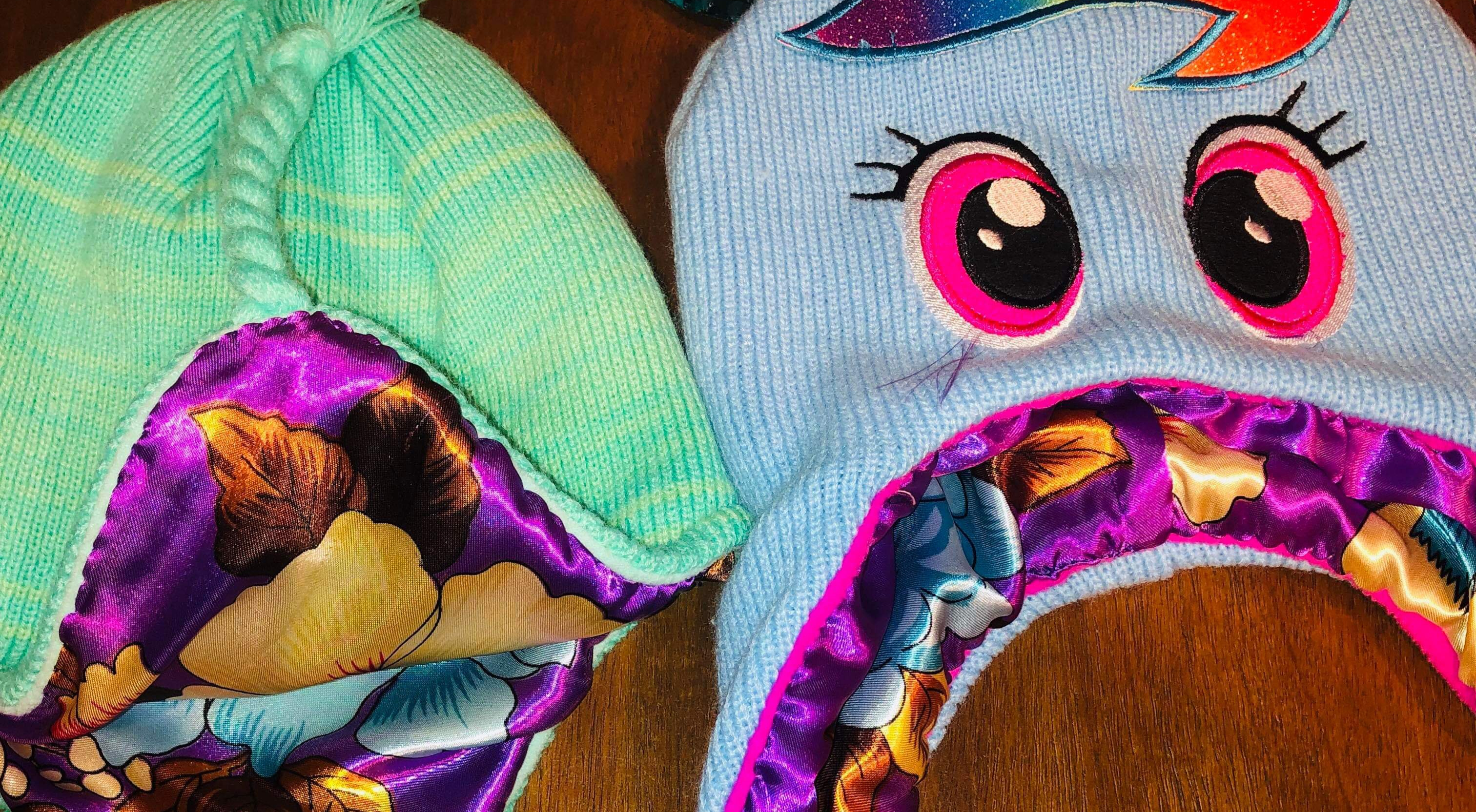 Mom adds silk-lined protection to daughter's winter hats, and it's genius