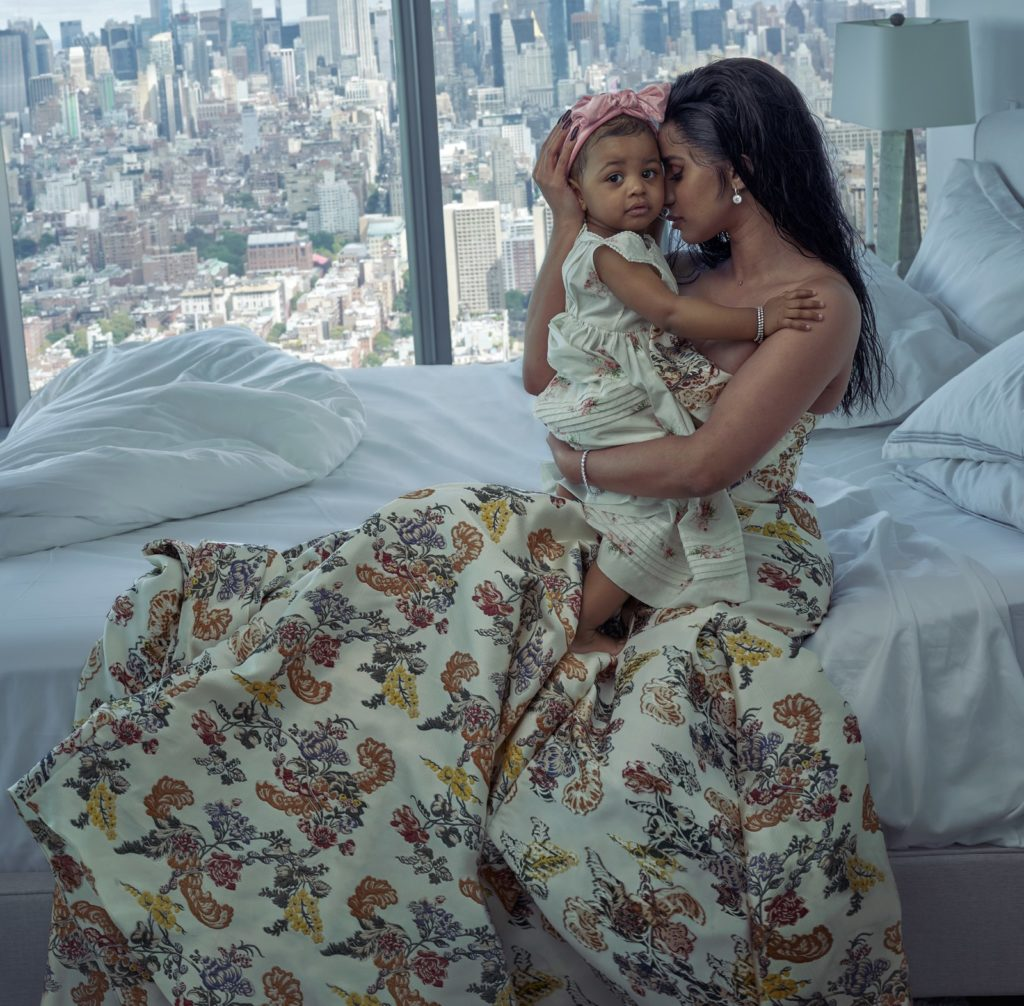 Cardi B and Kulture in Vogue magazine