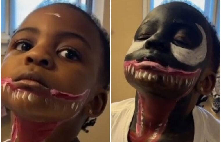 3-year-old paints herself as Venom and now we can't get enough