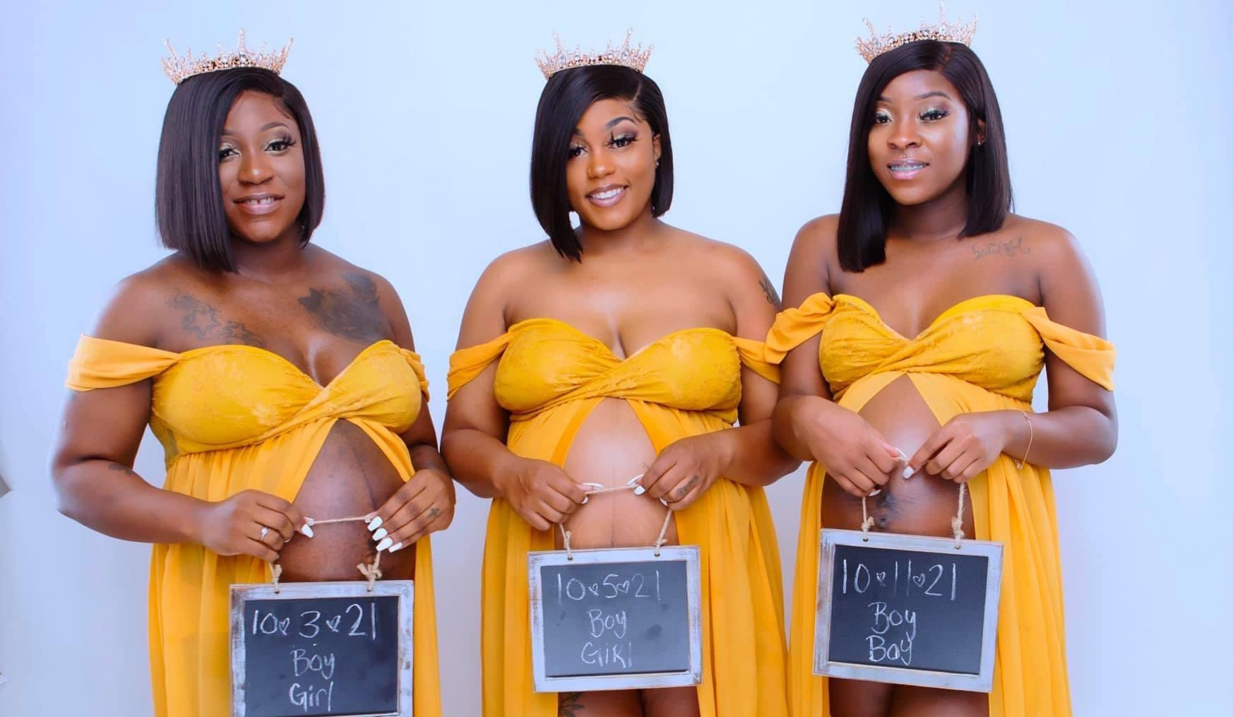Three Mississippi Cousins All Pregnant with Twins, Rainbow Babies in Remarkable Coincidence