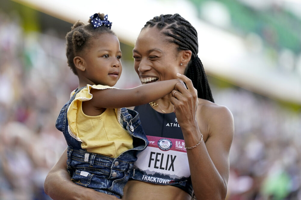 Nearly Three Years After Life-Threatening Birth Experience, Allyson Felix Qualifies for Fifth Olympics